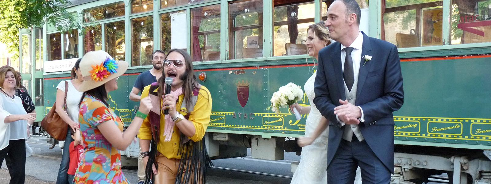 Tram Tracks | Wedding Party Tour at Rome